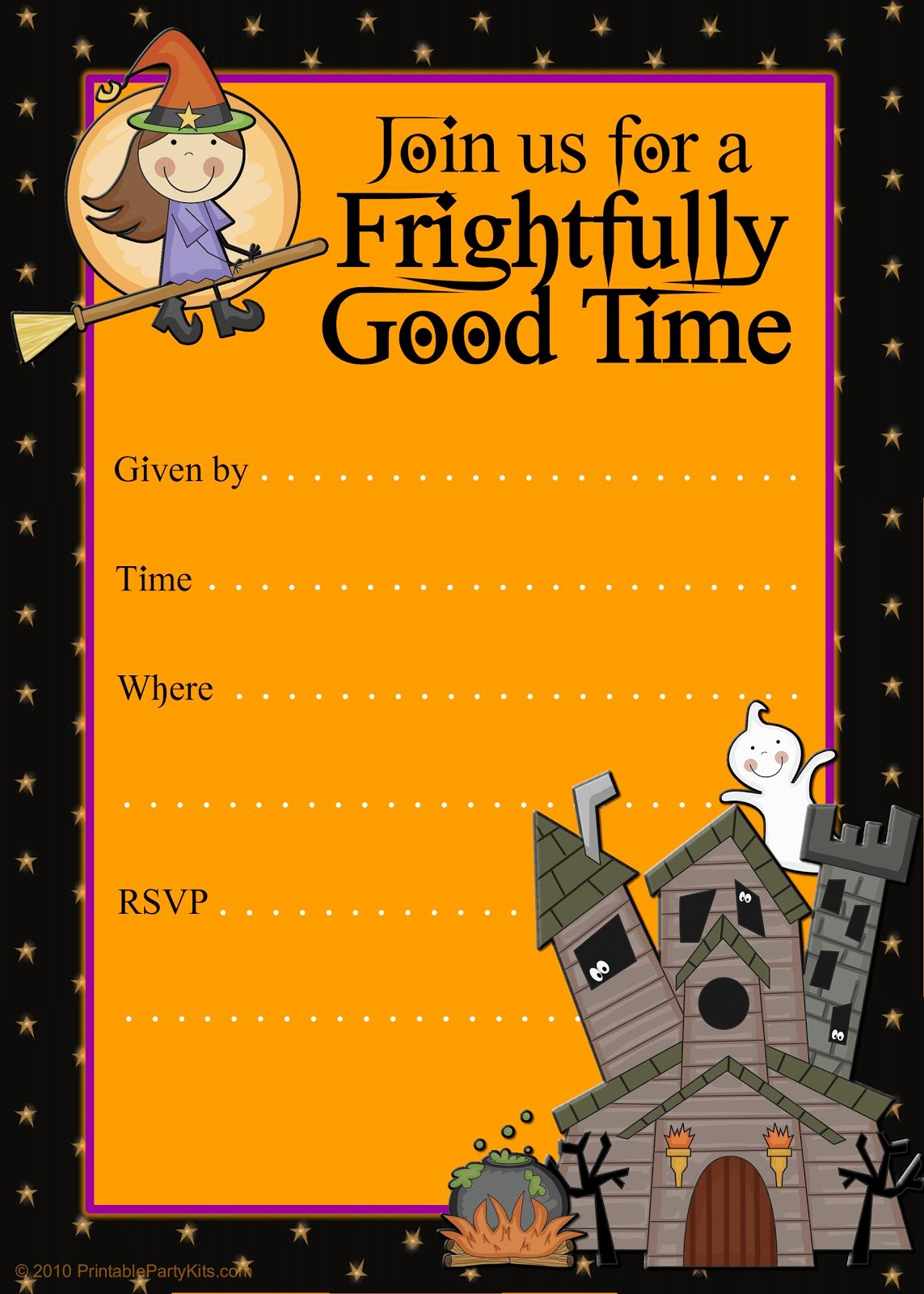 Halloween Party Invitations Template Beautiful Free Printable Party Invitations Printable Good Witch