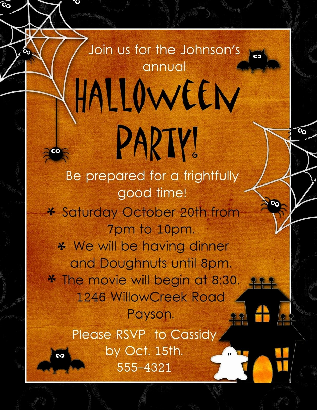 Halloween Party Invitations Template Elegant Halloween Invitation Template Free