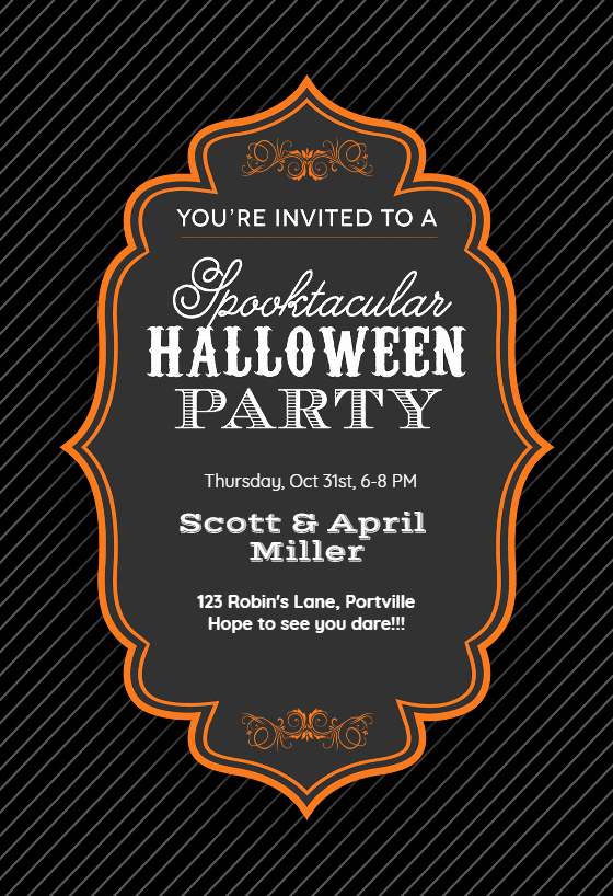 Halloween Party Invitations Template Fresh Spooktacular Halloween Party Halloween Party Invitation
