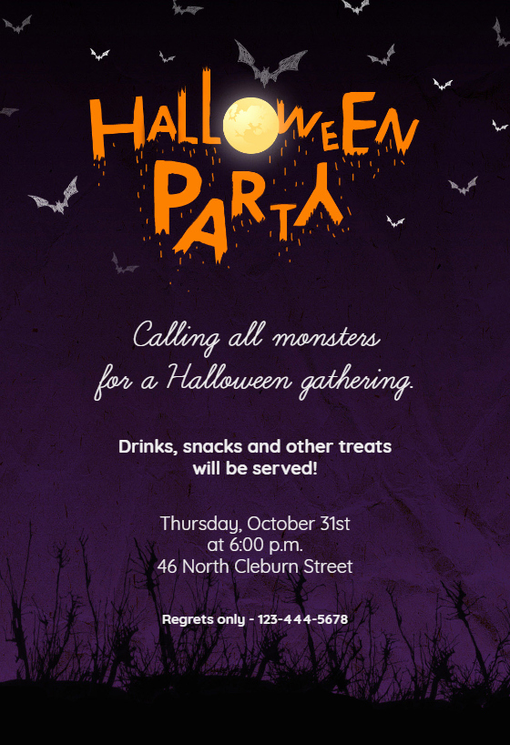 Halloween Party Invitations Template Inspirational Calling All Monsters Free Halloween Party Invitation