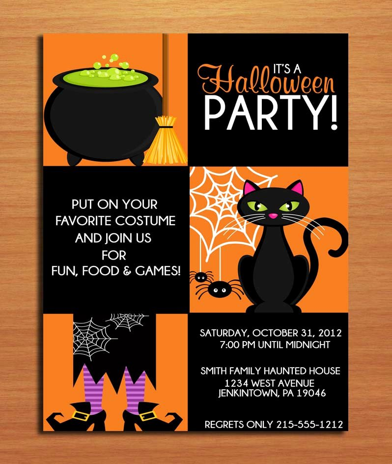 Halloween Party Invitations Template Inspirational Halloween Invitation Template Editable – Festival Collections