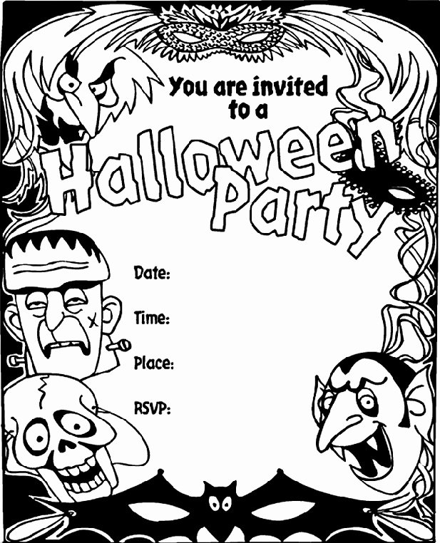 Halloween Party Invitations Template Luxury 16 Awesome Printable Halloween Party Invitations
