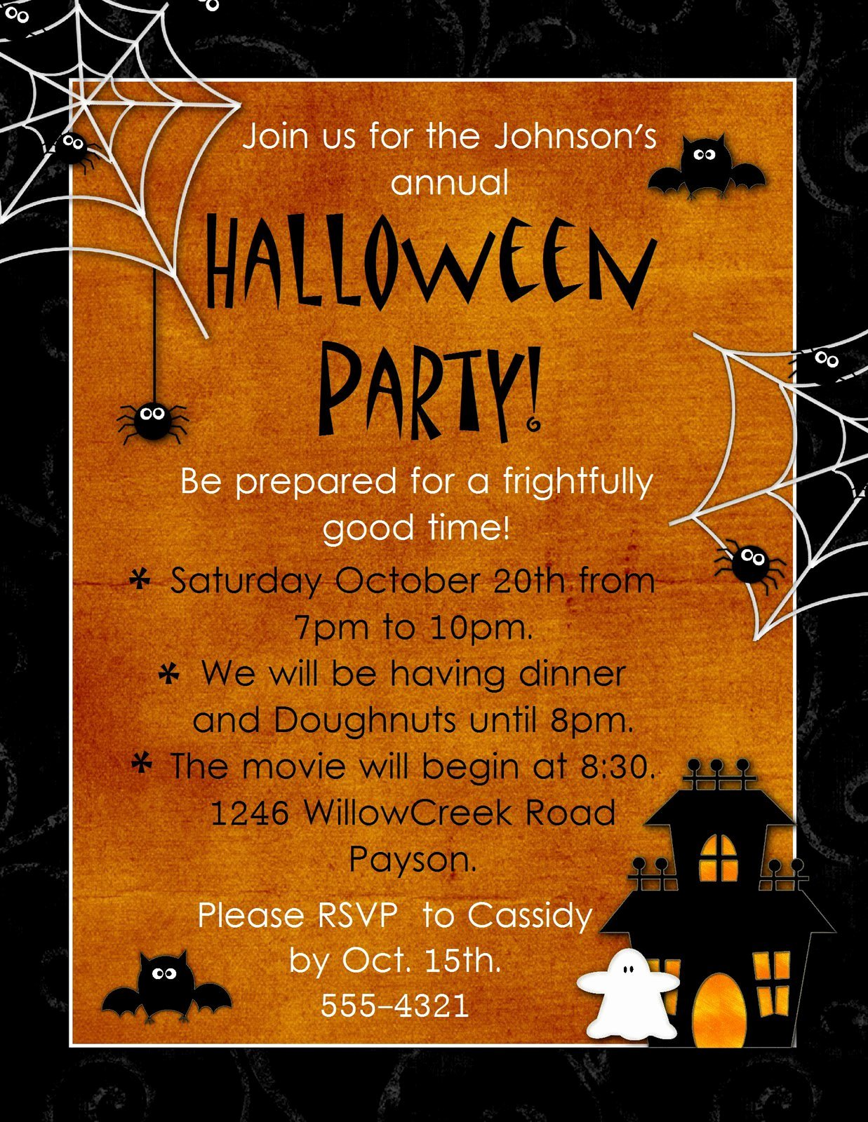 Halloween Party Invitations Template Luxury Halloween Party Invitations Blank
