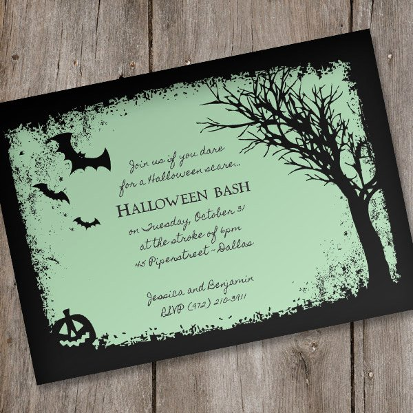 Halloween Party Invitations Template New Halloween Invitation Template – Spooky Woods – Download