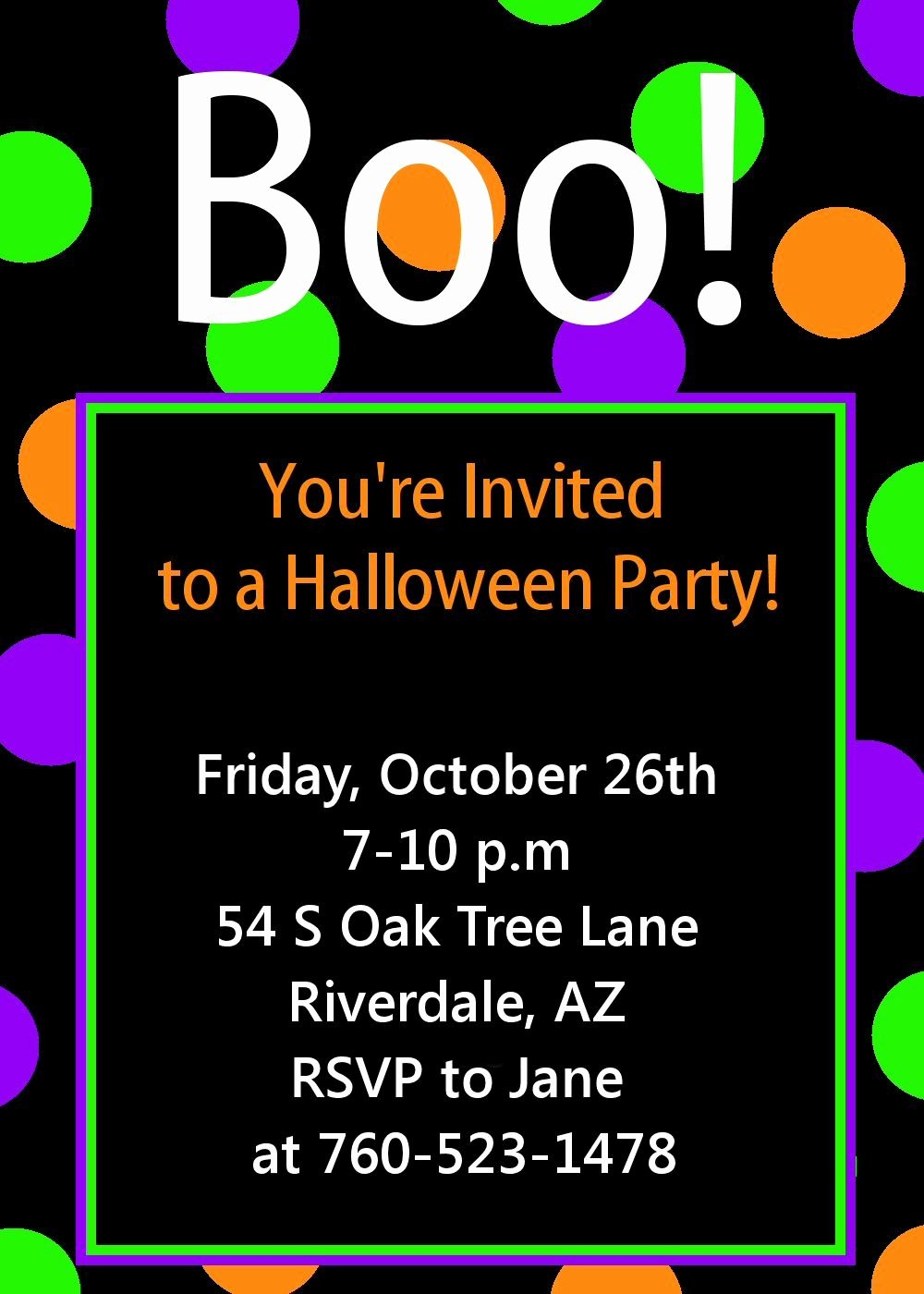 Halloween Party Invitations Template New Halloween Party Invitation Printable