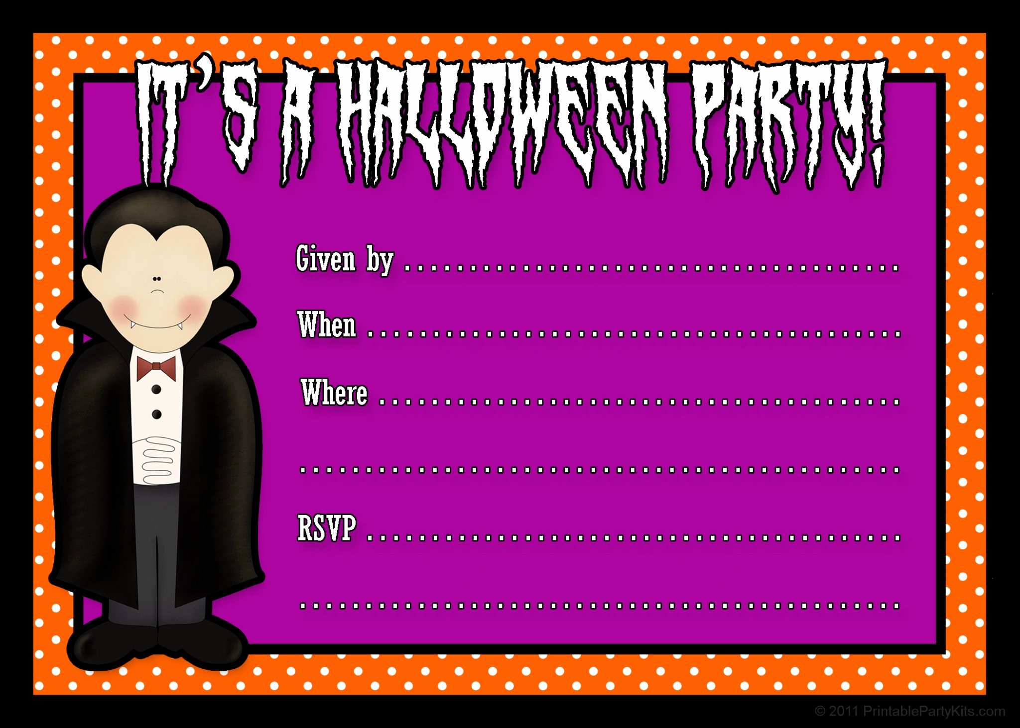 Halloween Party Invitations Template New Invitations