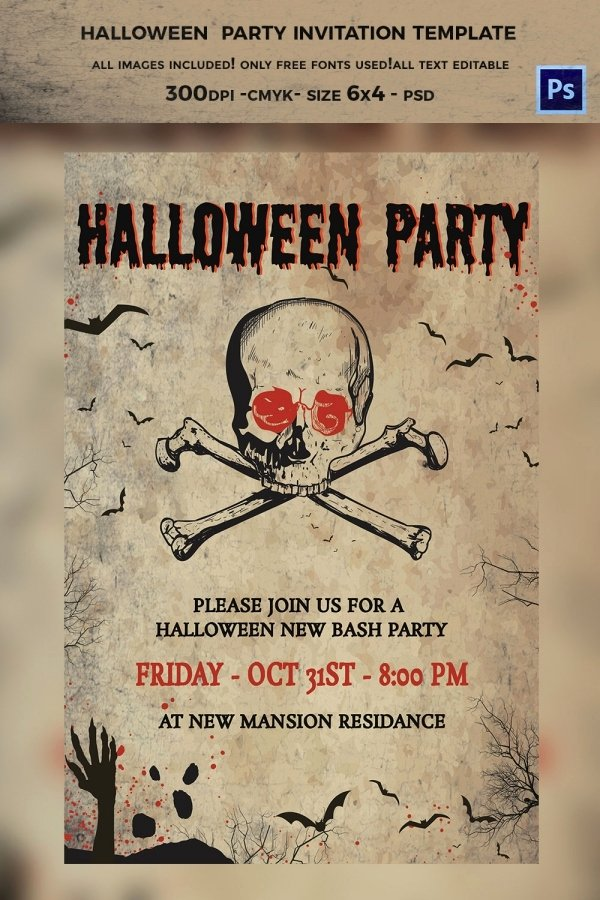 Halloween Party Invitations Template Unique 35 Halloween Invitation Free Psd Vector Eps Ai