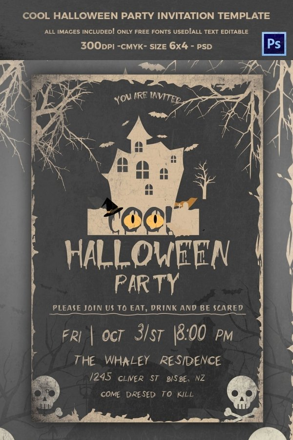 Halloween Party Invitations Template Unique 68 Halloween Templates Editable Psd Ai Eps format