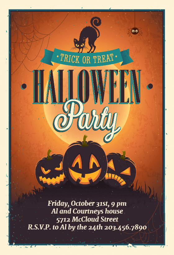Halloween Party Invitations Template Unique Vintage Party Halloween Party Invitation Template Free
