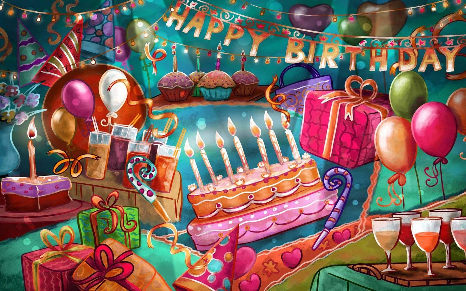 Happy Bday Wallpapers Free Beautiful Happy Birthday Greetings Wishes High Resolution Hd 2013