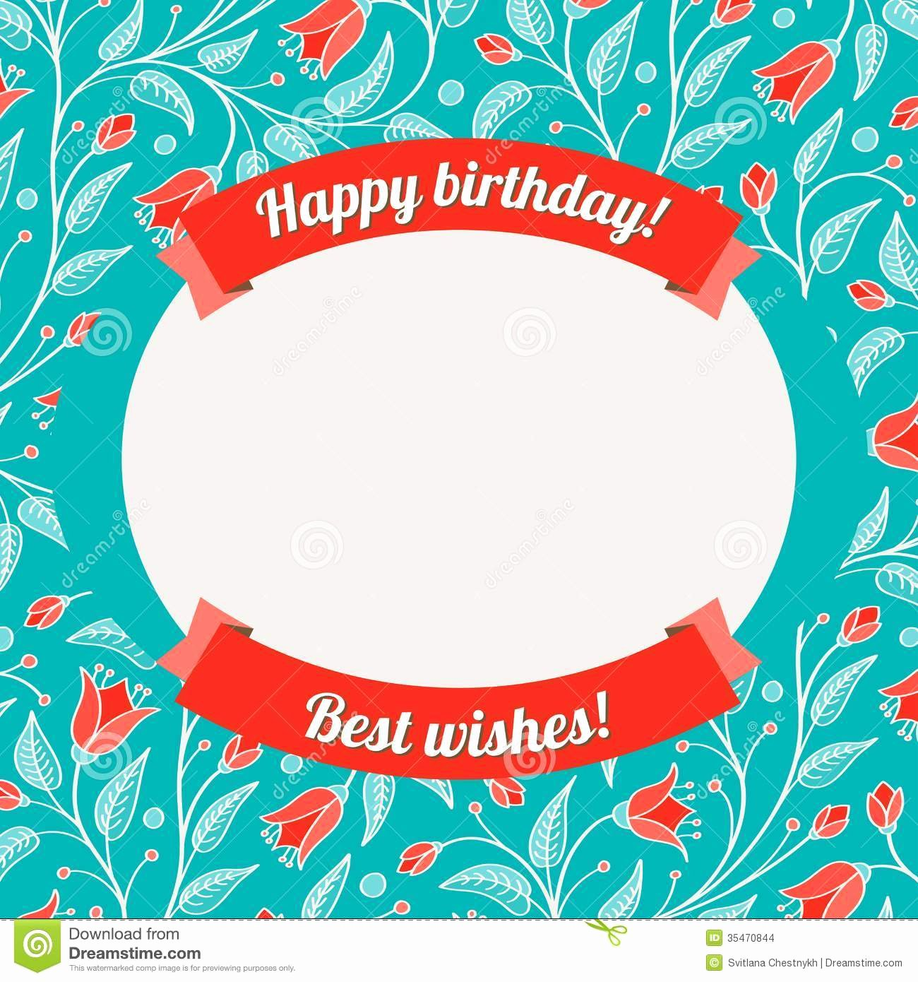 Happy Birthday Card Template Best Of Birthday Card Template