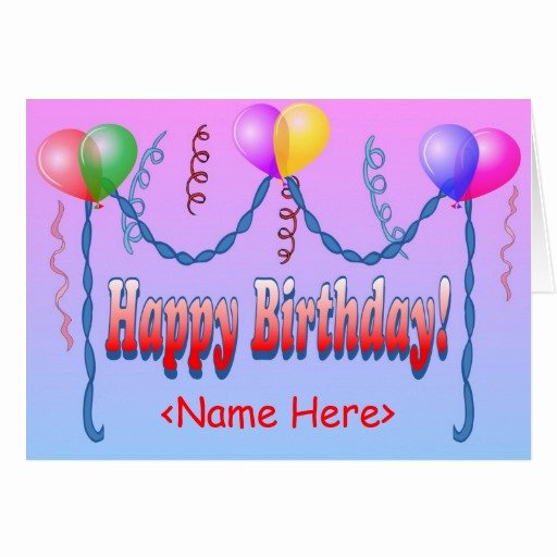 Happy Birthday Card Template Elegant Birthday Card Template