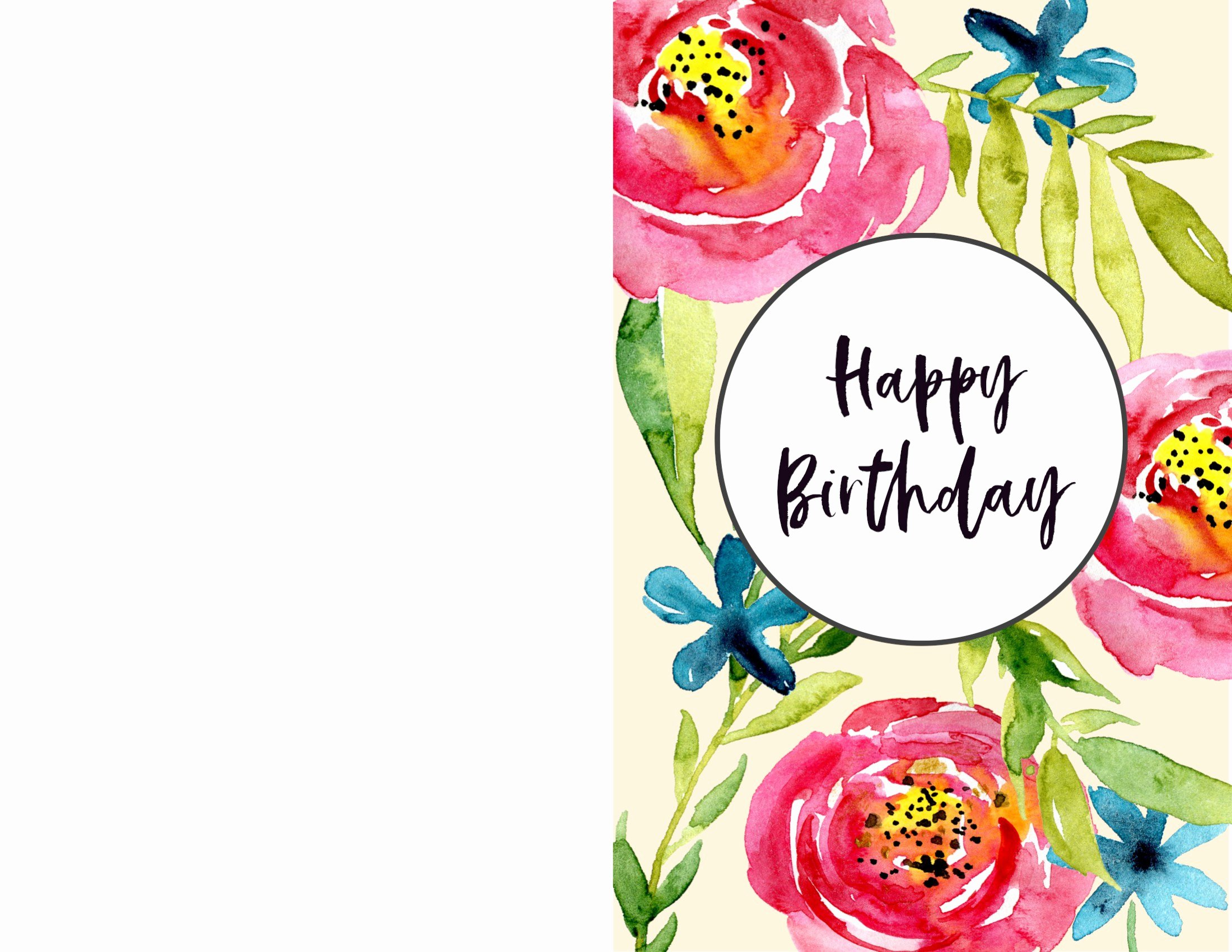 Happy Birthday Card Template Elegant Free Printable Birthday Cards Paper Trail Design