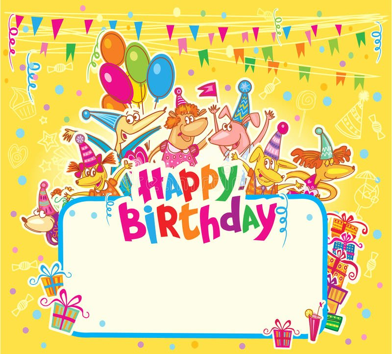 Happy Birthday Card Template Fresh Happy Birthday Card Stock Illustration Illustration Of