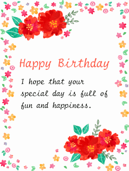 Happy Birthday Card Template Inspirational 34 Free Birthday Card Templates In Word Excel Pdf