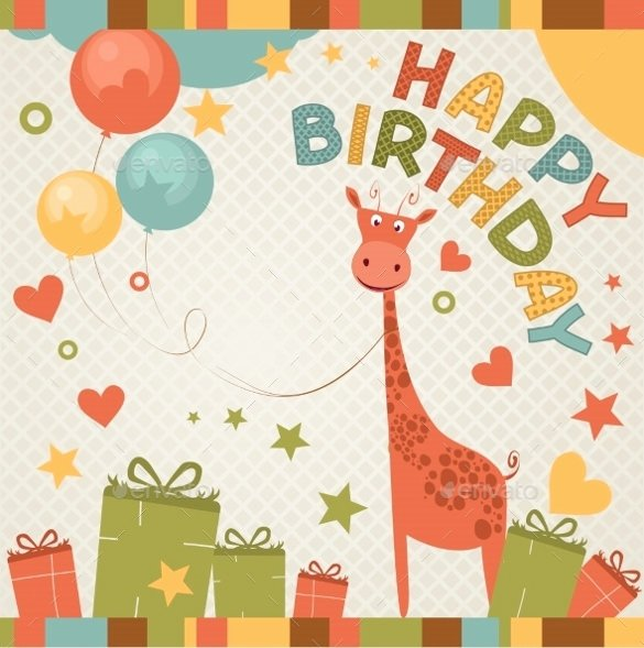 Happy Birthday Card Template Unique 21 Birthday Card Templates – Free Sample Example format