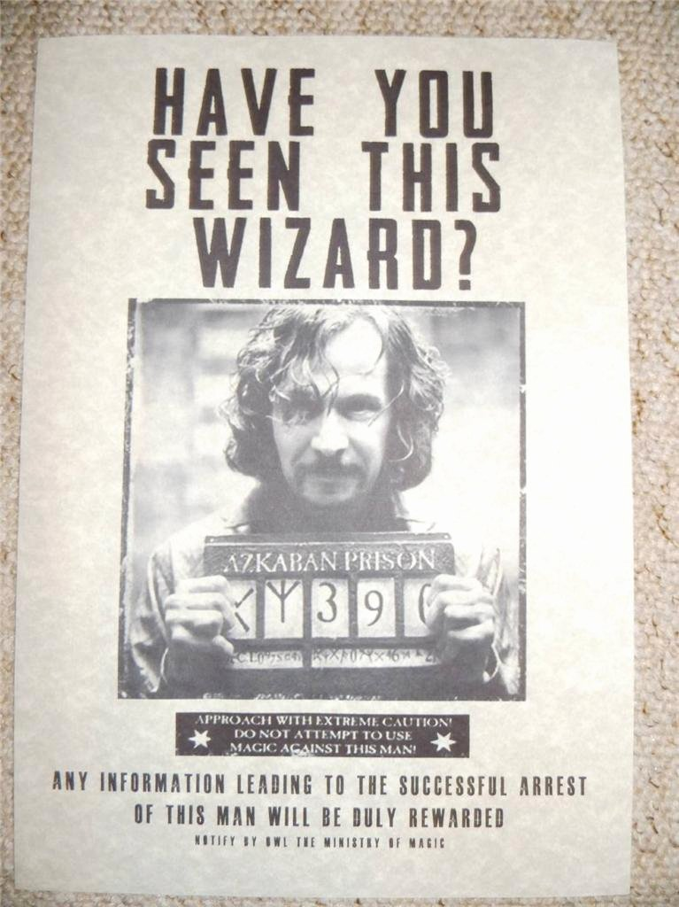 Harry Potter Wanted Poster Beautiful Harry Potter Hogwarts Wanted Poster Prop Replica Sirius