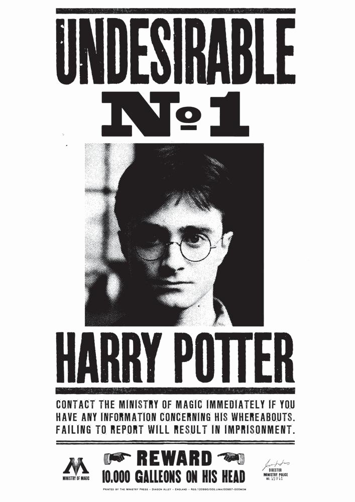 Harry Potter Wanted Poster Beautiful Wanted Posters
