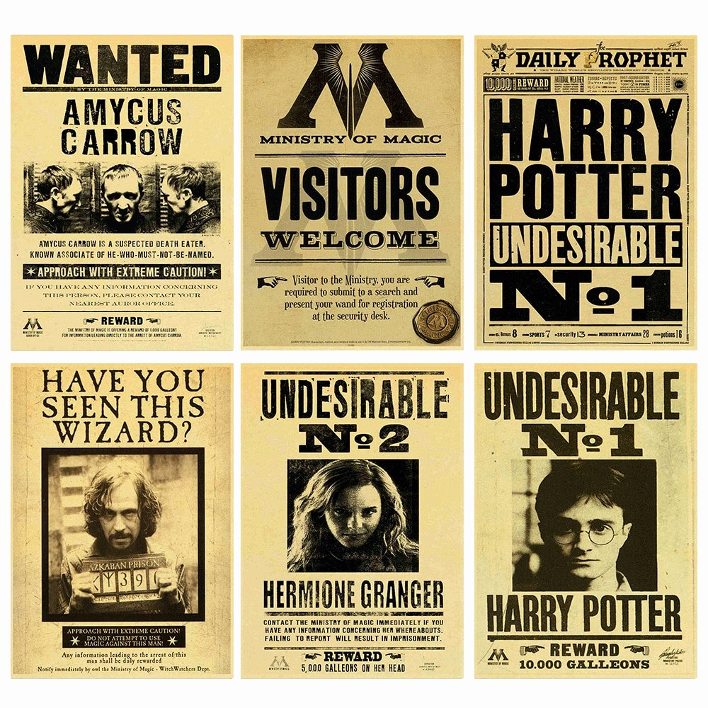 Harry Potter Wanted Poster Best Of Aliexpress Buy Harry Potter Wanted order Undesirable