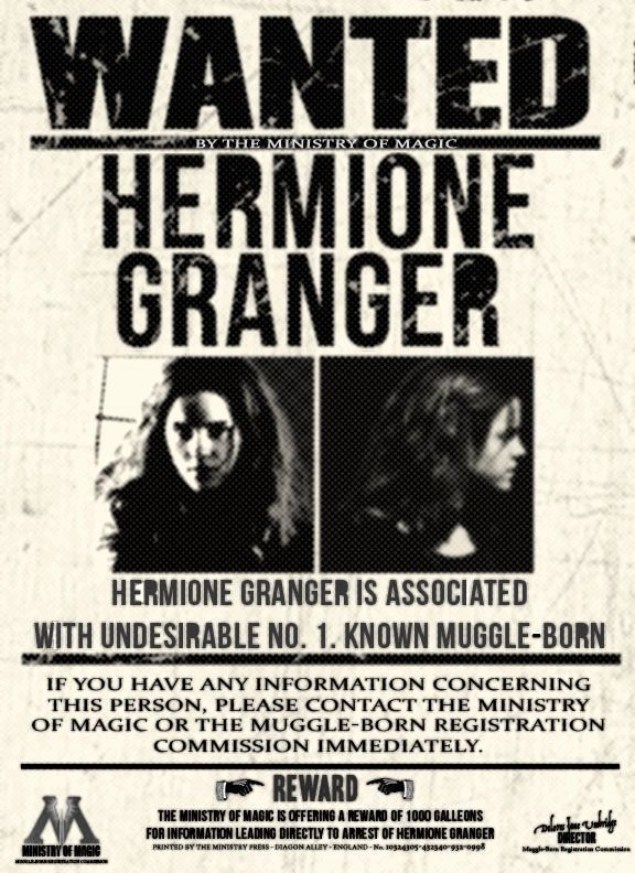 Harry Potter Wanted Poster Best Of Wanted by the Ministry Hermione Granger by Xlovegoodx