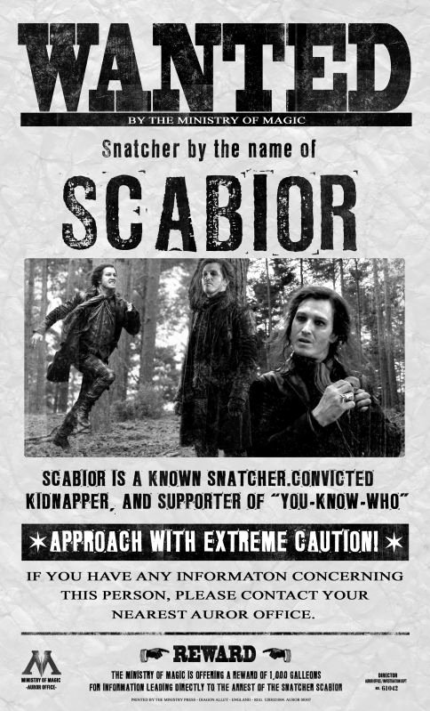 Harry Potter Wanted Poster Inspirational 9 Best Scabior Images On Pinterest
