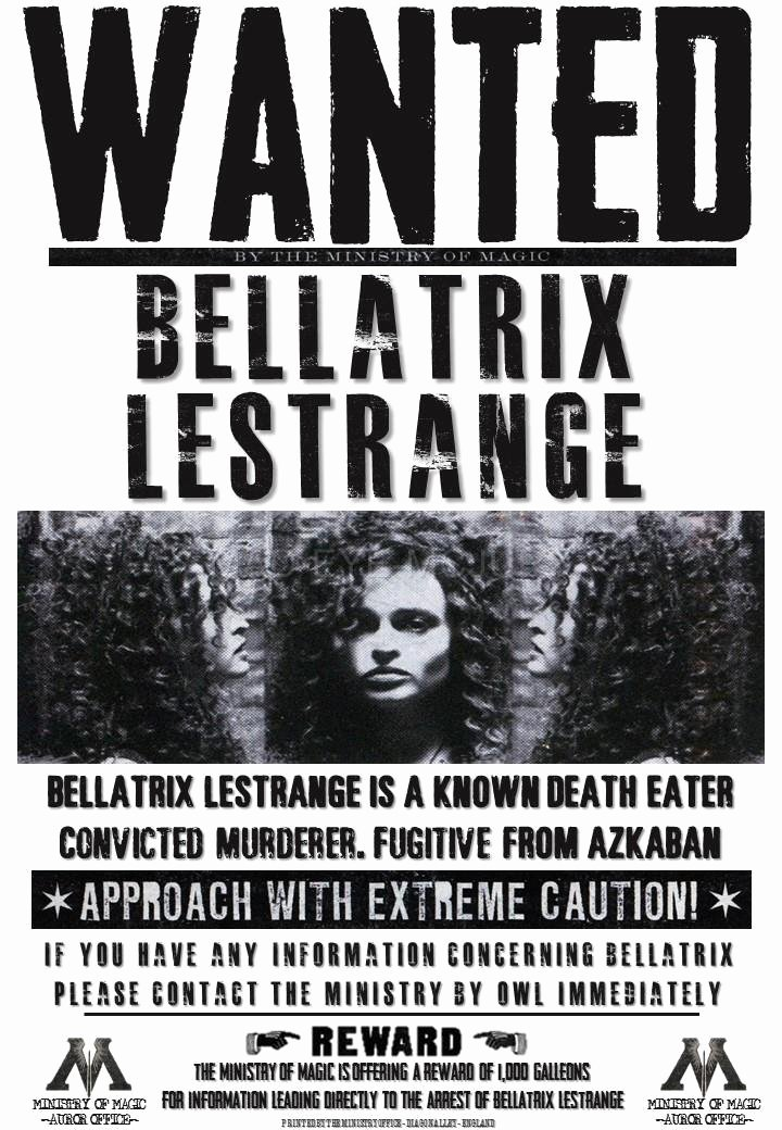 Harry Potter Wanted Poster New Harry Potter Hogwarts S Bellatrix Fenrir Lucius