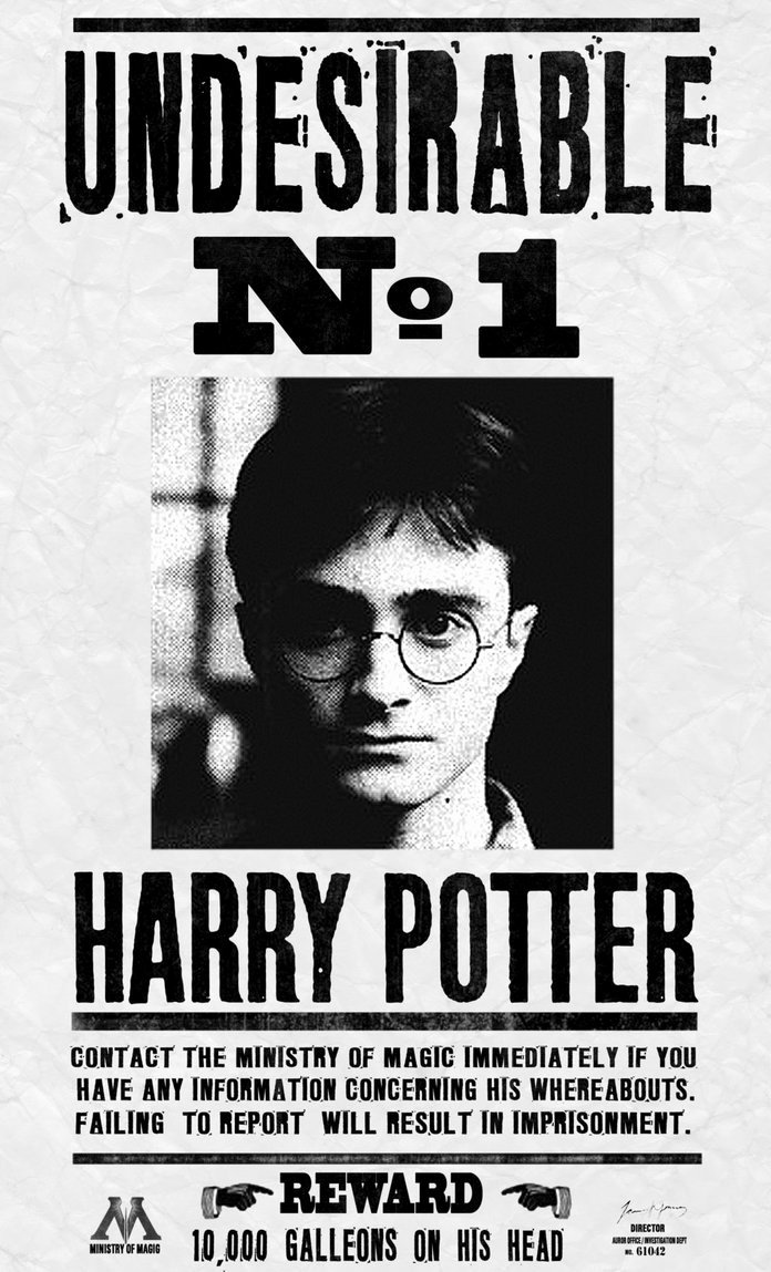 Harry Potter Wanted Poster New Harry Potter Undesirable No 1 by Kem2000 On Deviantart