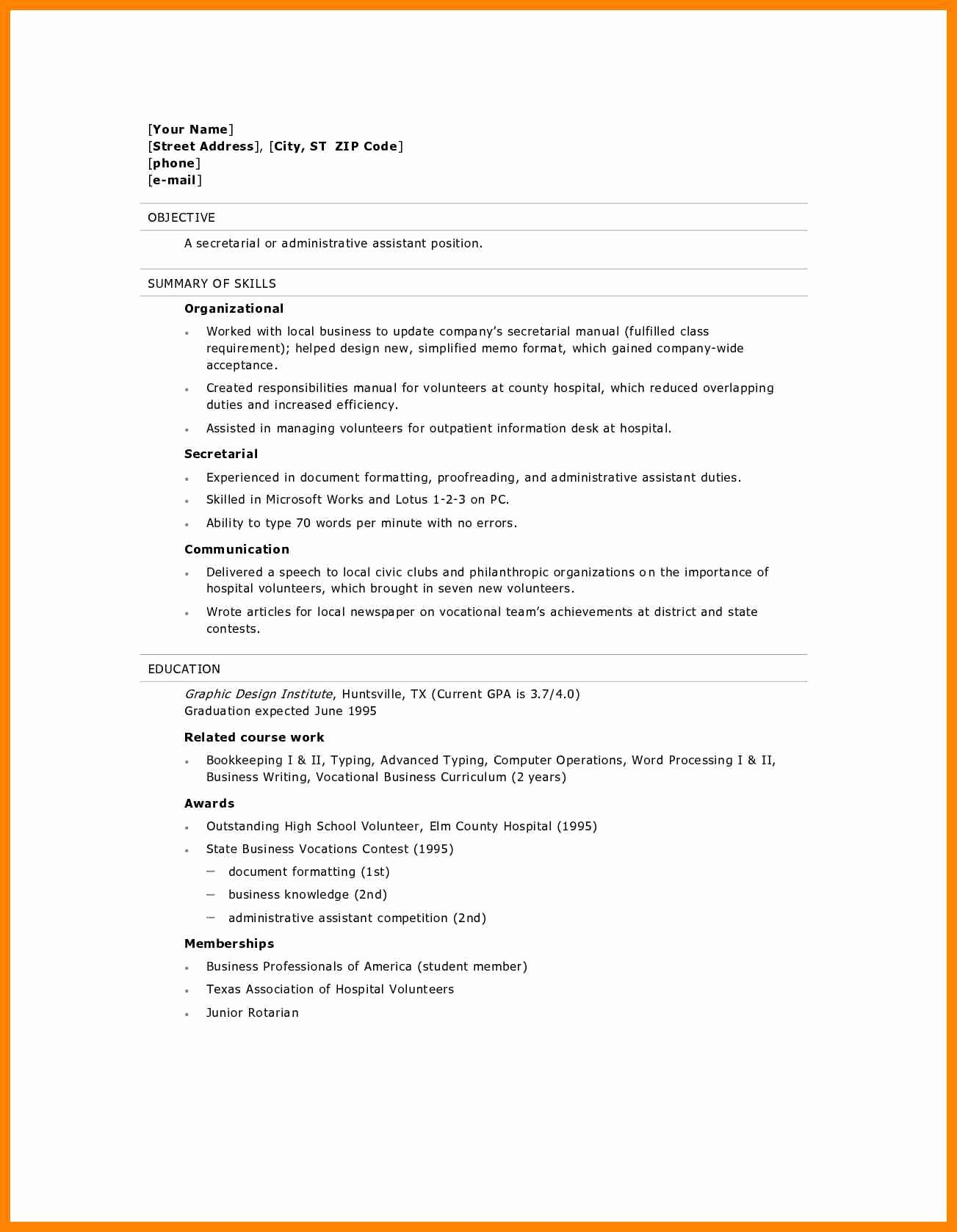 High School Diploma On Resume Beautiful 7 High School Diploma Resume