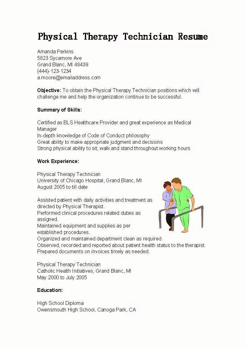 High School Diploma On Resume Fresh Resume Samples Physical therapy Technician Resume Sample