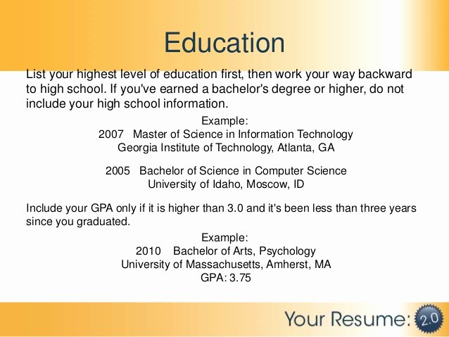 High School Diploma On Resume Luxury Resume 2 0