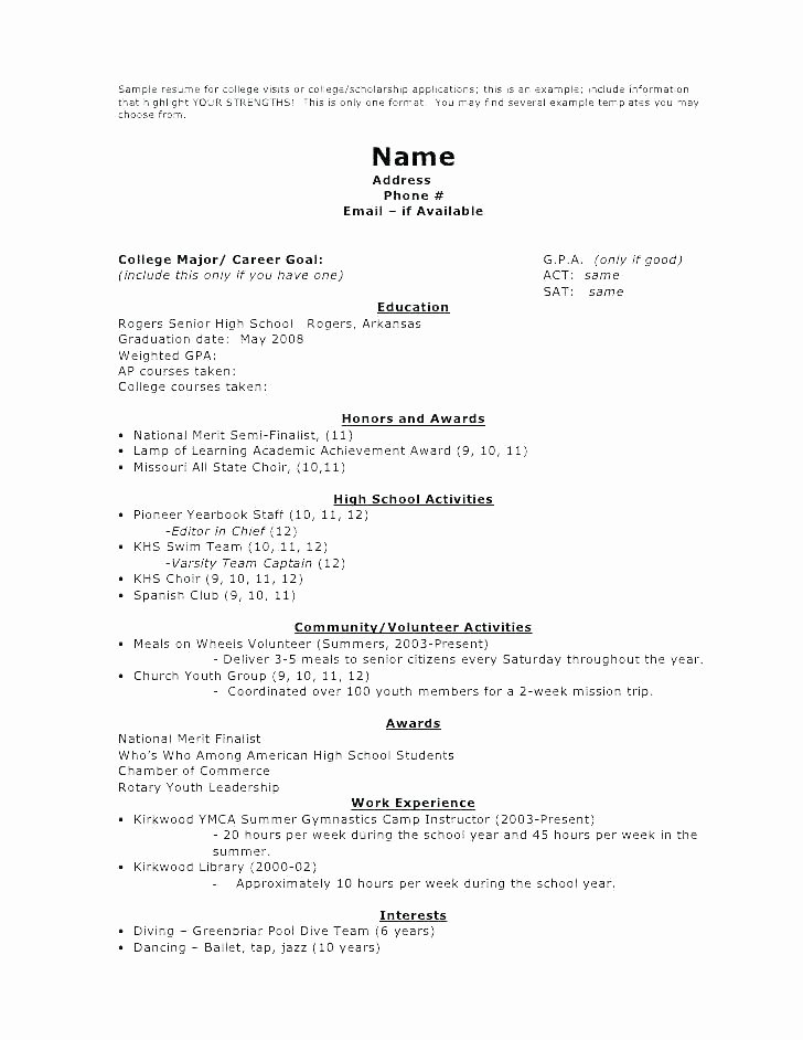 High School Job Resume Best Of Work Resume for High School Student – Wikirian