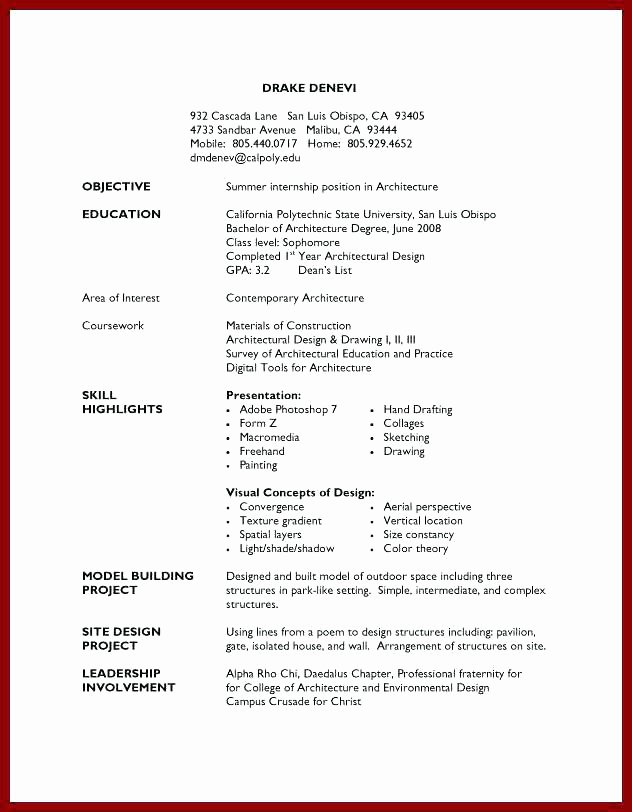 High School Job Resume Elegant 14 15 Job Resume Samples for College Students