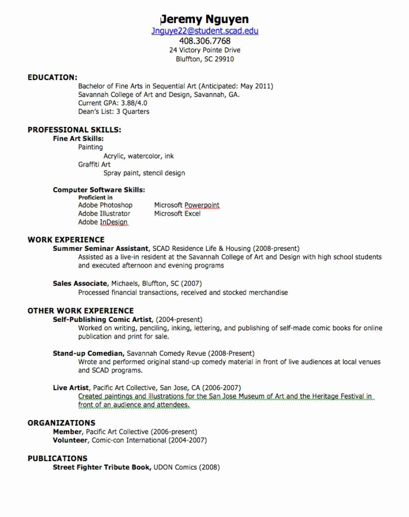 High School Job Resume Unique How to Create A Professional Resume