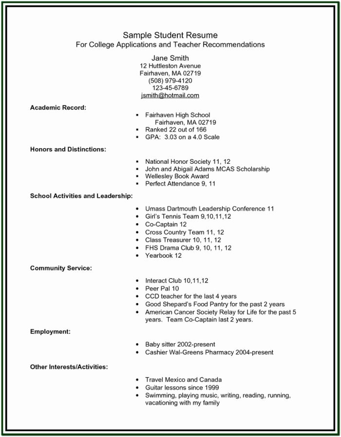 High School Resume Builder Awesome Resume Builder for College Students Resume Resume