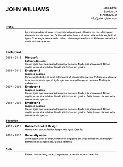 High School Resume Builder Best Of Best 25 Free Cv Builder Ideas Only On Pinterest