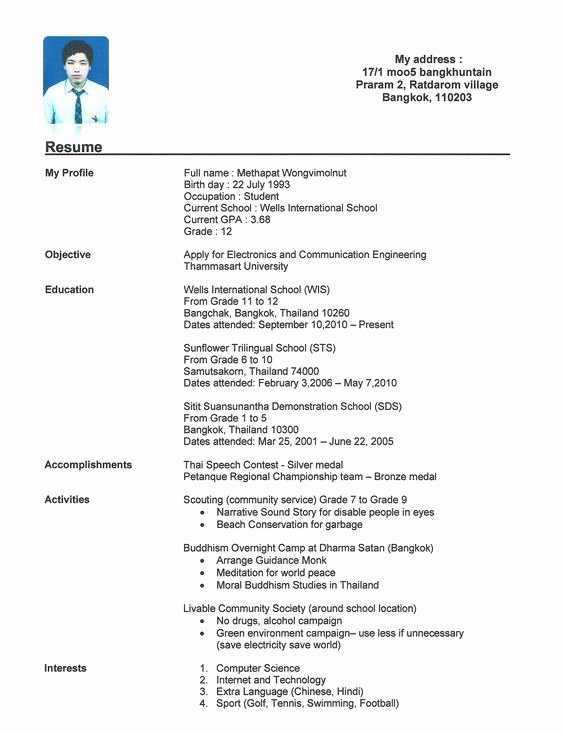 High School Resume Builder Best Of High School Resume for Jobs Resume Builder Resume