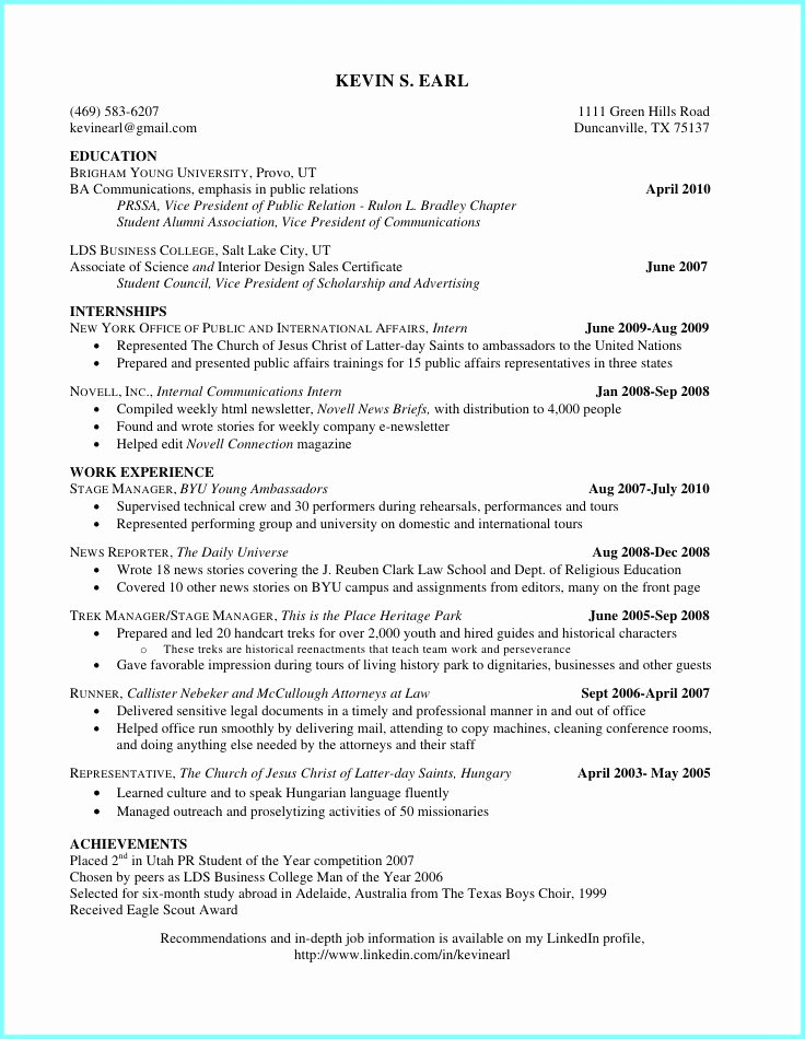 High School Resume Builder Fresh College Resume Builder for Highschool Students Resume