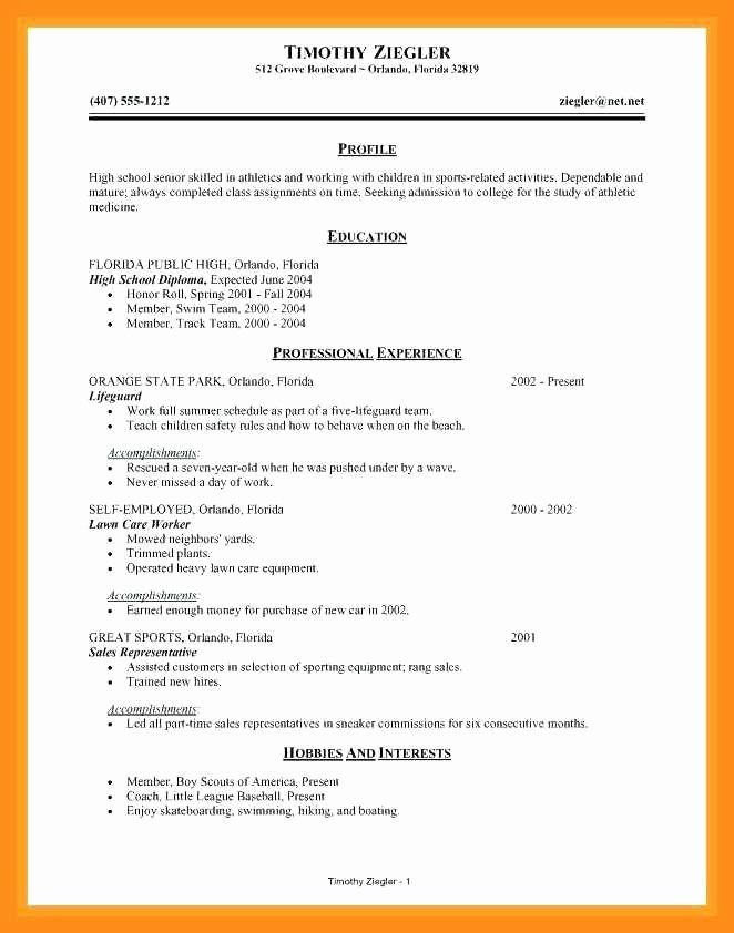 High School Resume Builder Inspirational 12 13 Resume Maker for College Students