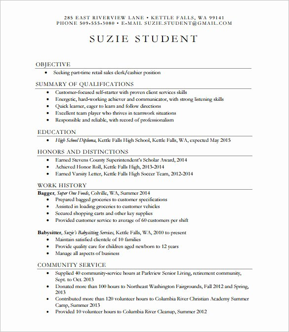 High School Resume Builder New 24 Best Student Sample Resume Templates Wisestep