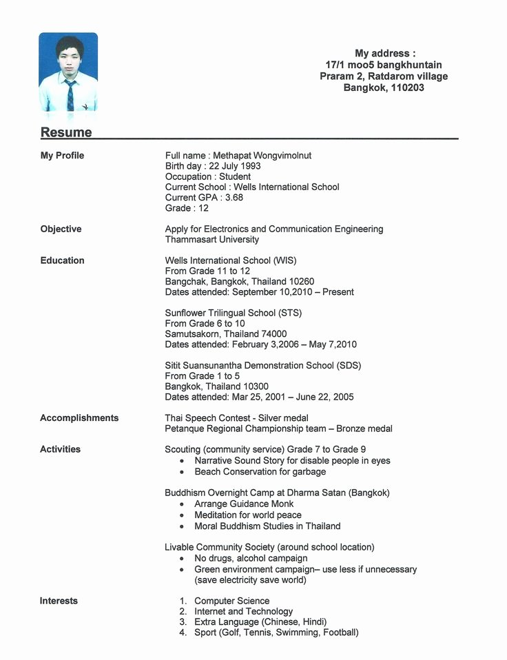 High School Resume Builder Unique 17 Best Ideas About Resume Template Australia On Pinterest