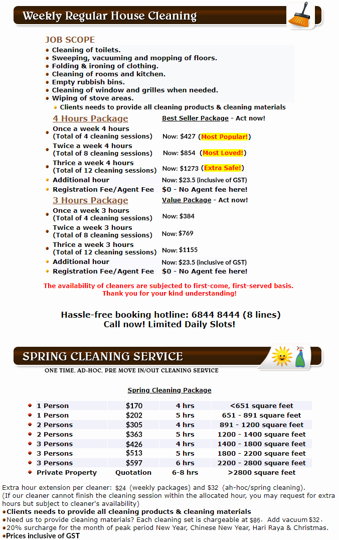 Home Cleaning Services Price List Lovely E Time Cleaning & Spring Cleaning Services
