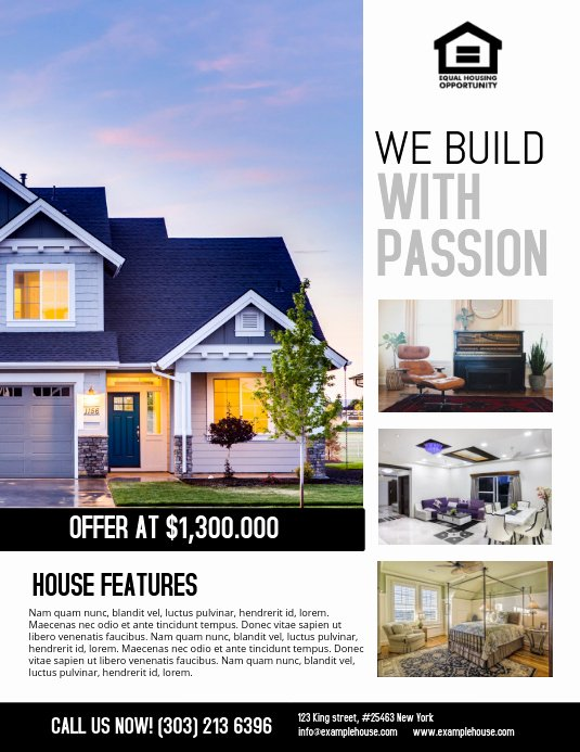 Home for Sale Flyer Awesome Real Estate Flyer Template