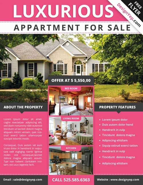 Home for Sale Flyer Best Of Download Free Real Estate Flyer Psd Flyer Template