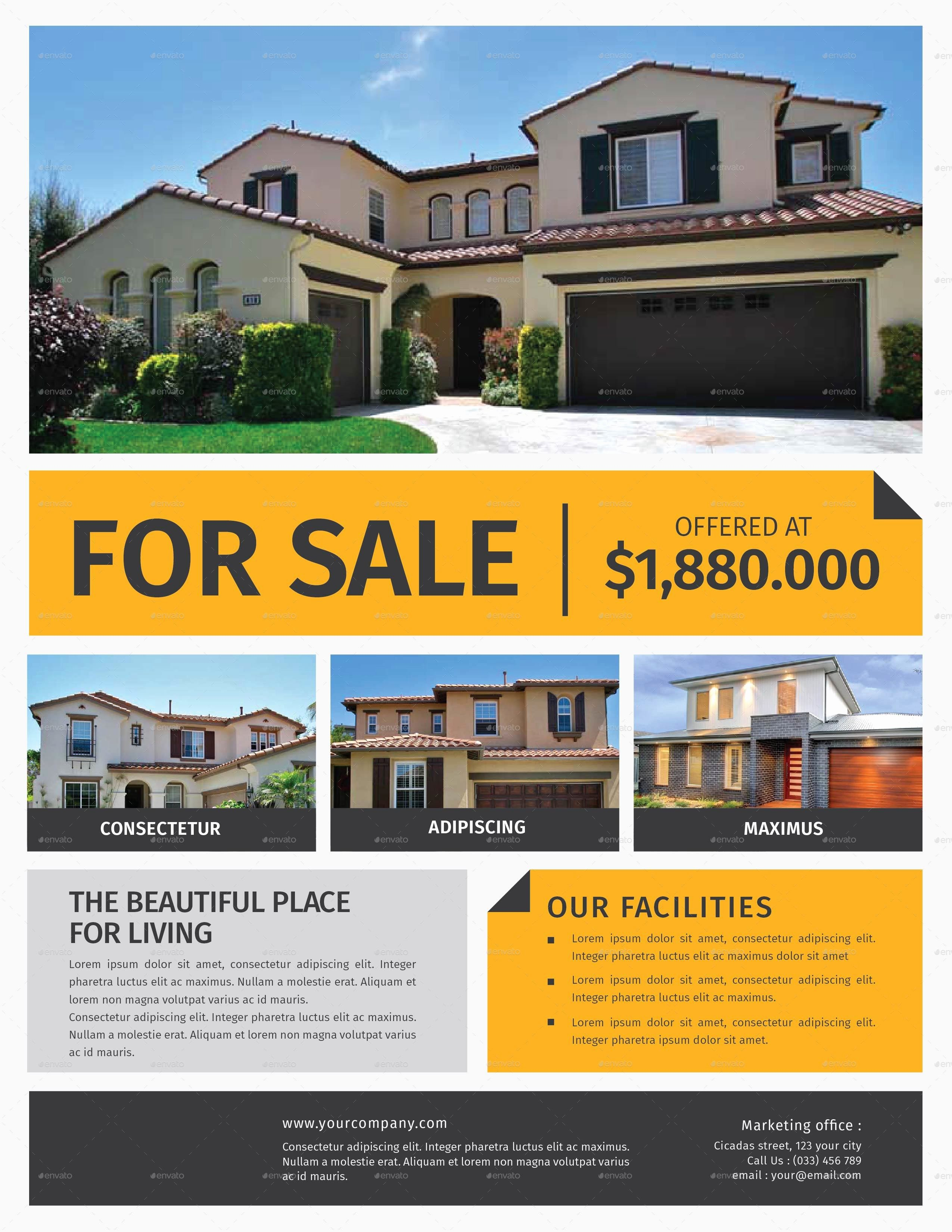 Home for Sale Flyer Best Of Real Estate Flyer by Lilynthesweetpea