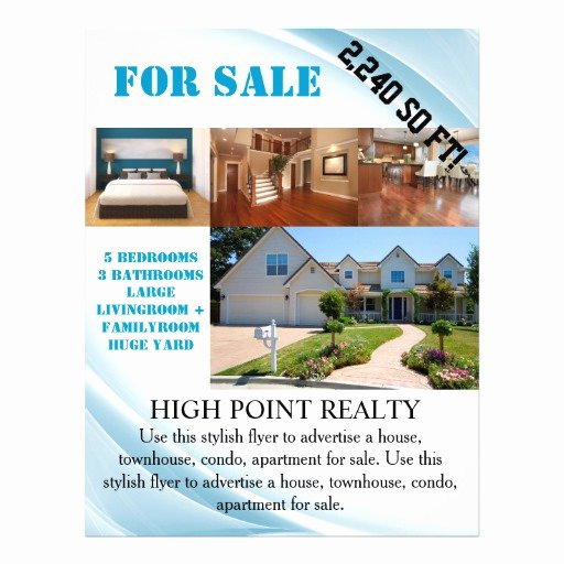 Home for Sale Flyer Elegant Modern Real Estate Realtor for Sale Flyer