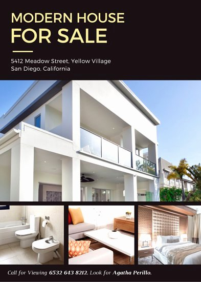 Home for Sale Flyer Fresh Customize 101 Real Estate Flyer Templates Online Canva