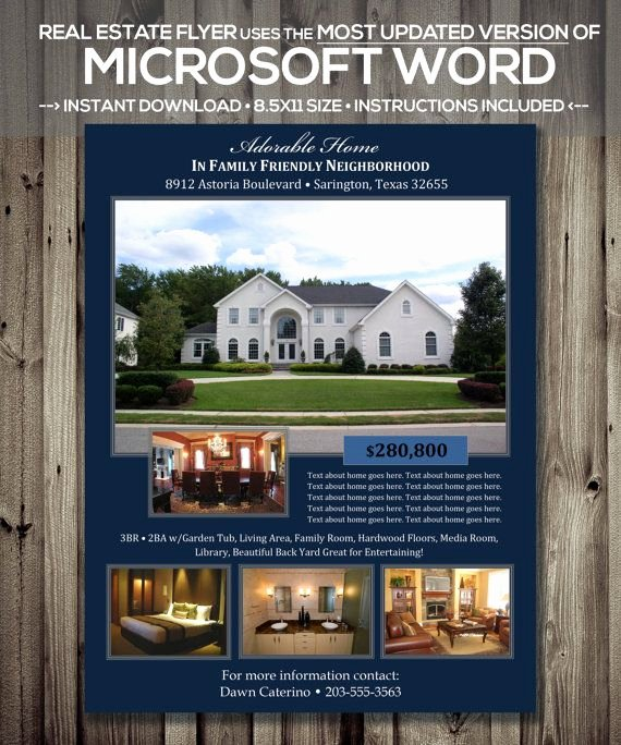 Home for Sale Flyer Inspirational Real Estate Flyer Template Microsoft Word Cx