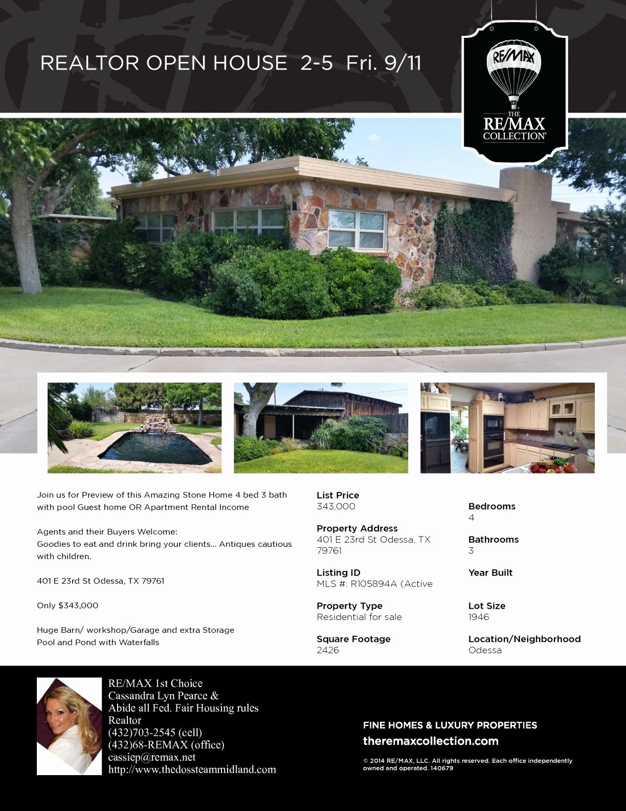 Home for Sale Flyer Luxury Realtor Open House Flyer