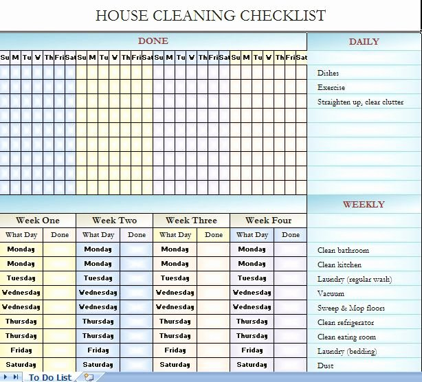 House Cleaning Checklist Template Best Of 25 Best Ideas About Cleaning Schedule Templates On