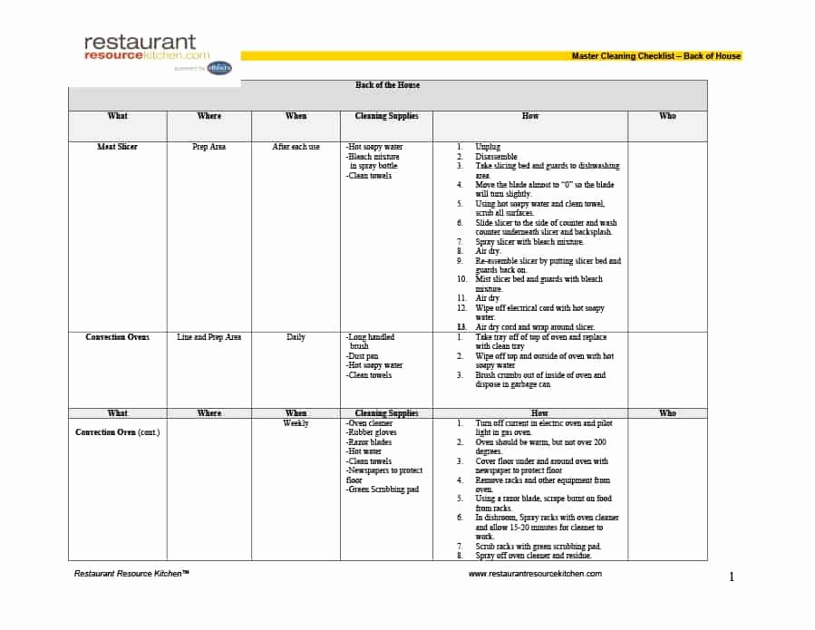 House Cleaning Checklist Template Best Of 40 Printable House Cleaning Checklist Templates Template Lab